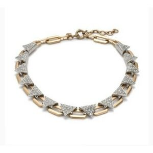 J.Crew Necklace Art Deco Studded Chain Link